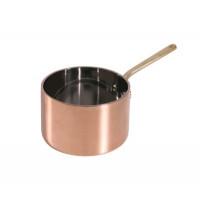 Stielkasserolle, tief, aus Kupfer, 12cm Durchmesser