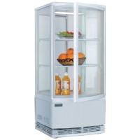 Kühlvitrine Polar 86L weiß - mit 2 gebogenen Glastüren | Kühltechnik/Kühlvitrinen/Tischkühlvitrinen
