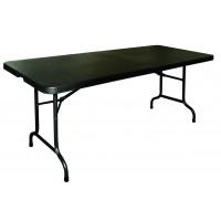 Vollständig Klappbarer Büffettisch schwarz 1,83m
