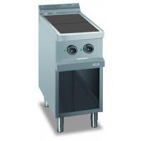 Elektroherd Dexion Serie 77 - 40/70 quadratische, abgesenkte Kochflächen