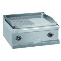Elektrogrillplatte Dexion Serie 77 - 70/70 ½ glatt, ½ gerillt, verchromt - Tischgerät
