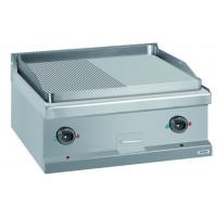 Gasgrillplatte Dexion Serie 77 - 70/70 ½ glatt, ½ gerillt - Tischgerät