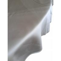 Damasttischwäsche flammhemmend, 100 % PES, weiß,  40 x 40 cm