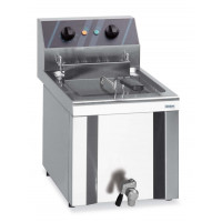 Elektro-Fritteuse Profi 12 Liter mit Ablasshahn, 400 V