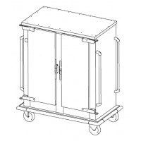 Bankettwagen RACKTIC 2x8 U, neutral, zweitürig