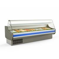 Fischkühltheke Profi 30x9 - gerades Frontglas