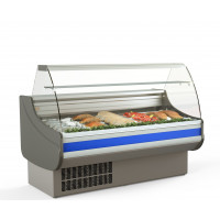 Fischkühltheke Profi 15x9 - gebogenes Frontglas