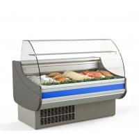 Fischkühltheke Profi 13x9 - rundes Frontglas | Kühltechnik/Kühltheken/Fischkühltheken