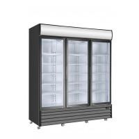 Getränkekühlschrank ECO 1500 mit Klapptüren und Leuchtaufsatz