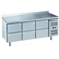 Kühltisch ECO 0/6 mit Aufkantung - GN 1/1
