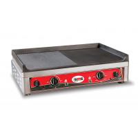 GMG Elektro-Grillplatte 70x50 ½ glatt, ½ gerillt - Tischgerät
