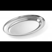 Edelstahl Serviertablett oval 240 x 170 mm