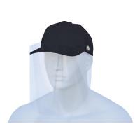 Basecap mit abnehmbarem Visier - schwarz