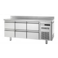 Kühltisch Premium 0/6 mit Aufkantung - EN 600x400