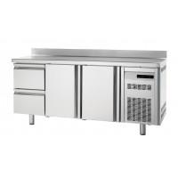 Kühltisch Premium 2/2 mit Aufkantung - EN 600x400