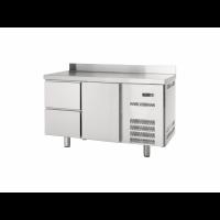Kühltisch Profi 600 1/2 mit Aufkantung | Kühltechnik/Kühltische/Gastro-Kühltische/Gastro-Kühltische 600