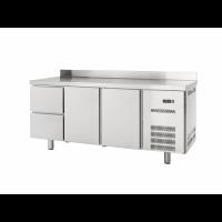 Kühltisch Profi 600 2/2 mit Aufkantung | Kühltechnik/Kühltische/Gastro-Kühltische/Gastro-Kühltische 600