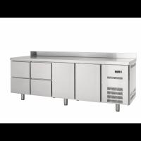 Kühltisch Profi 600 2/4 mit Aufkantung | Kühltechnik/Kühltische/Gastro-Kühltische/Gastro-Kühltische 600