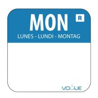 Wochentagetiketten Mo/blau entfernbar - 1.000 Stück | Lager & Transport/Lebensmittelaufbewahrung/Zubehör