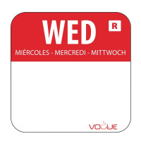 Wochentagetiketten Mi/rot entfernbar - 1.000 Stück | Lager & Transport/Lebensmittelaufbewahrung/Zubehör