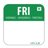 Wochentagetiketten Fr/grün entfernbar - 1.000 Stück