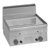 Gas-Grillplatte Dexion Serie 66 - 60/60 glatt, verchromt Tischgerät