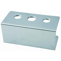 Eistütenhalter, 3 Löcher à 26mm, 20cm x 9,5cm, Höhe 9cm