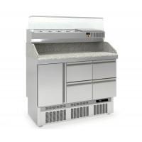 Pizzatisch PROFI 1/4 Mini mit Kühlaufsatz - Plus | Kühltechnik/Kühltische/Pizza-Kühltische