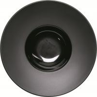 Kontrast Teller tief mit breiter Fahne Ø 230 mm, schwarz