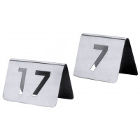 Tischnummernschild 13-24 mit ausgestanzten Ziffern