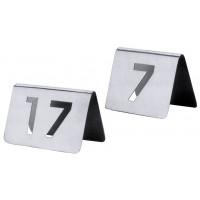 Tischnummernschild 61-72 mit ausgestanzten Ziffern