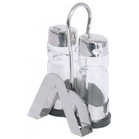 Menage Salz/Pfeffer mit Kartenhalter, LxBxH 8x5,5x12cm