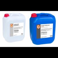 Klarspüler 10 Liter  & Geschirr-Reiniger mit Chlor 12 kg