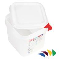 Araven Farbkodierte Lebensmittelbehälter GN 1/6, 15 cm | Lager & Transport/Lebensmittelaufbewahrung/Vorratsbehälter/Lebensmittelbehälter