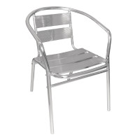Aluminiumstühle Bolero stapelbar 4 Stück