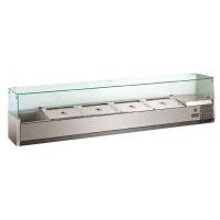 Kühlaufsatz ECO 8 x GN 1/4 mit Glasaufsatz 1600 mm