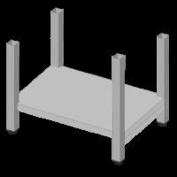 Untergestell mittelhoch für Kombidämpfer | Kochtechnik/Heißluftöfen & Kombidämpfer/Zubehör