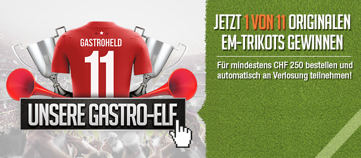 Unsere Gastro-Elf - 1 von 11 Trikots gewinnen